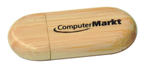 "1 1/8"" x 2 3/8"" 8GB Bamboo USB Flash Drive with Rounded Corners"