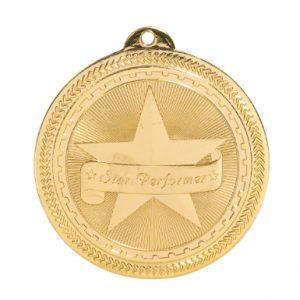 "2"" Bright Star Performer Laserable BriteLazer Medal"