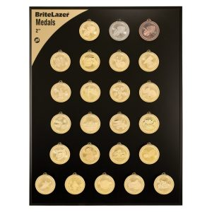 "2"" Academic Laserable BriteLazer Medal Display Set"