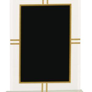 "8 1/2"" Contemporary Glass 4-Point Award"