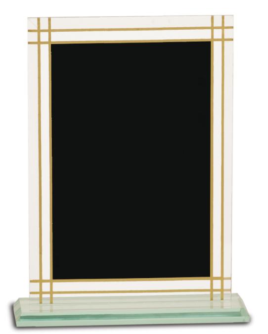 "8 1/2"" Contemporary Glass Full Border Award"