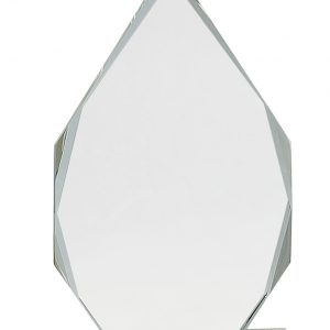 "10 1/2"" Crystal Diamond on Clear Pedestal Base"