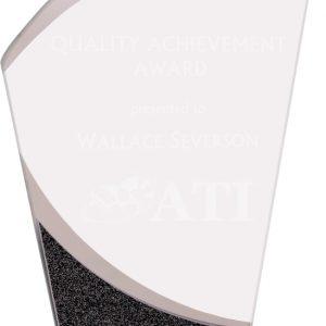 """8"""" Wave Designer Glass Award"""