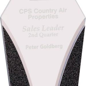 "9 1/4"" Diamond Designer Glass Award"