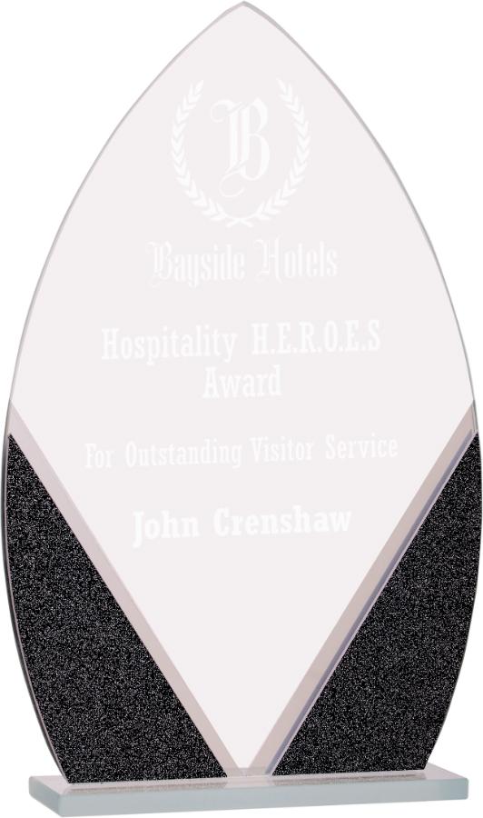 "7 1/4"" Oval Designer Glass Award"