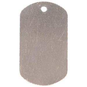 """1 1/8"""" x 2"""" Silver Laserable Dog Tag"""