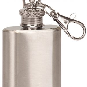 1 oz. Stainless Steel Flask Keychain