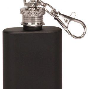 1 oz. Matte Black Flask Keychain
