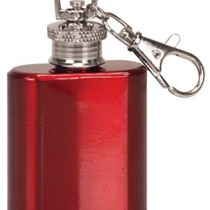 1 oz. Gloss Red Flask Keychain