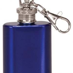 1 oz. Gloss Blue Flask Keychain