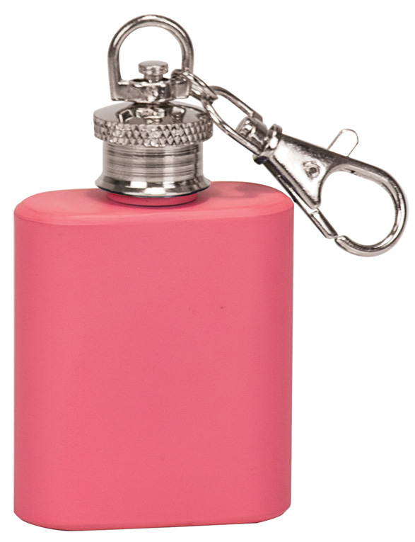 1 oz. Matte Pink Flask Keychain