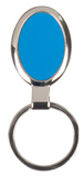 """1 1/8"""" x 1 5/8"""" Blue Laserable Oval Keychain"""