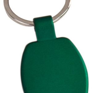 "1 5/8"" Green Laserable Rectangle Keychain"