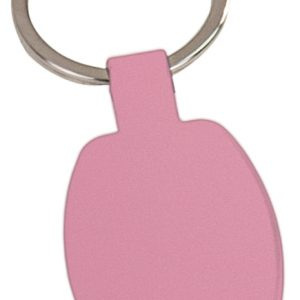 "1 5/8"" Pink Laserable Rectangle Keychain"