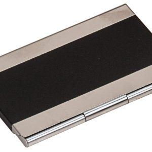 "3 3/4"" x 2 1/2"" Black Laserable Business Card Holder"