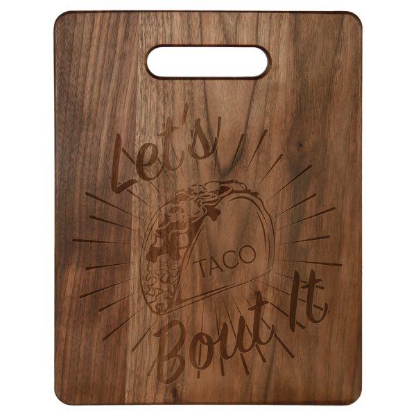 """11 1/2"""" x 8 3/4"""" Walnut Cutting Board"""