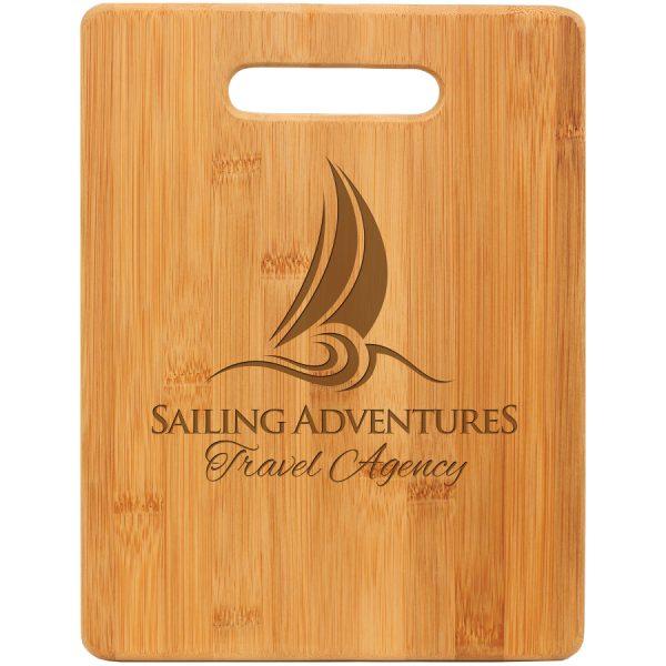 "11 1/2"" x 8 3/4"" Bamboo Rectangle Cutting Board"