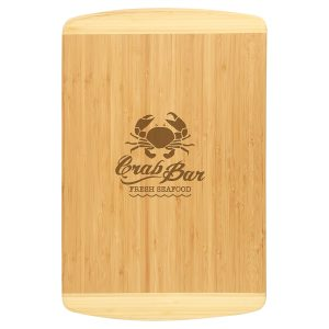 """18"""" x 12"""" Bamboo 2-Tone Cutting Board"""