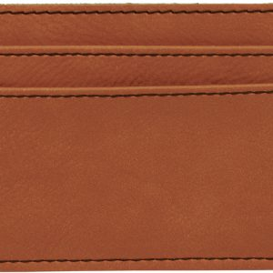 "4"" x 2 3/4"" Rawhide Laserable Leatherette Wallet Clip"