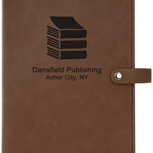 "6 1/2"" x 8 3/4"" Dark Brown Leatherette Book/Bible Cover with Snap Closure"