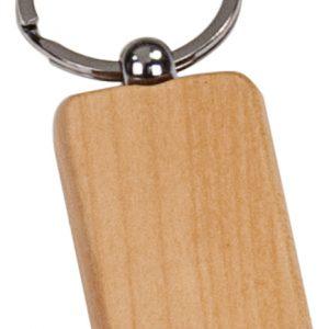 "1"" x 2"" Maple Rectangle Keychain"