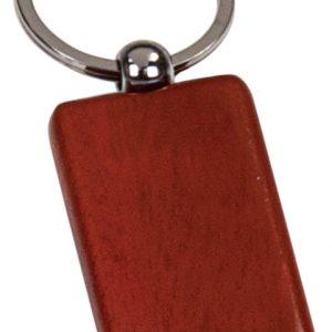 """1"""" x 2"""" Rosewood Finish Rectangle Keychain"""
