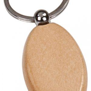"""1"""" x 2"""" Maple Oval Keychain"""