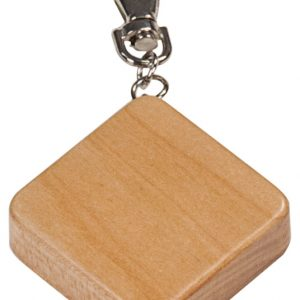 """1 3/4"""" x 1 3/4"""" Maple Finish Square 3-Foot Tape Measure with Keychain"""