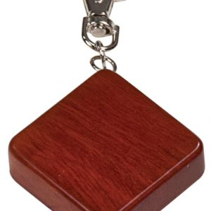 """1 3/4"""" x 1 3/4"""" Rosewood Finish Square 3-Foot Tape Measure with Keychain"""