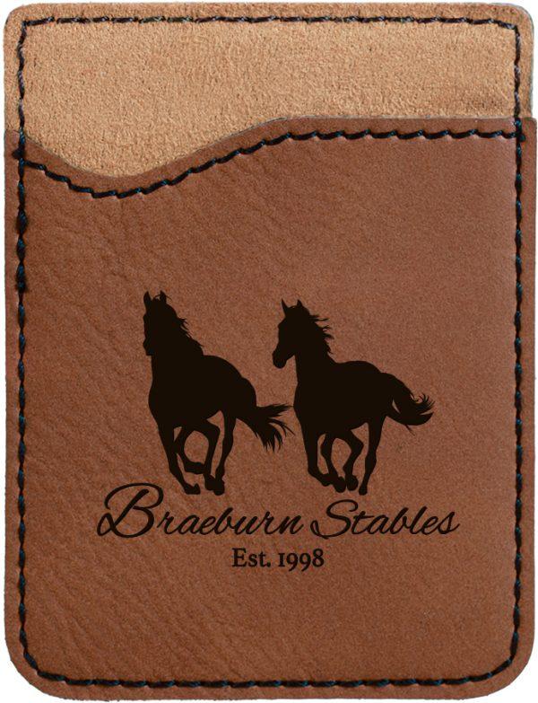 Dark Brown Laserable Leatherette Phone Wallet