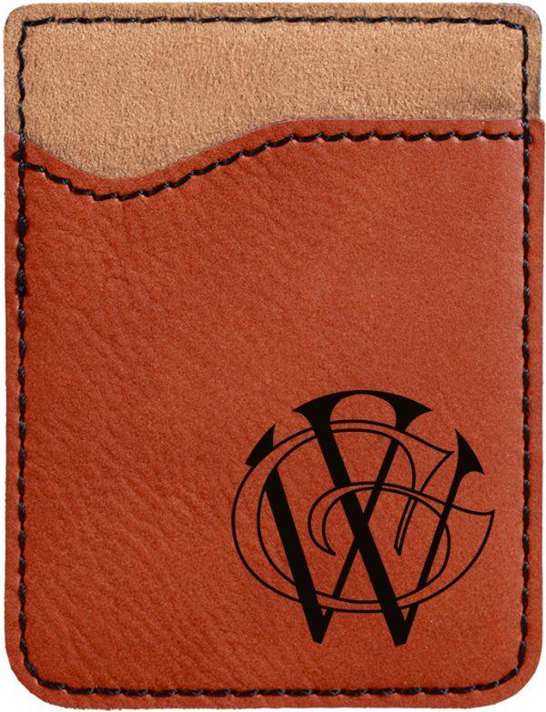 Rawhide Laserable Leatherette Phone Wallet