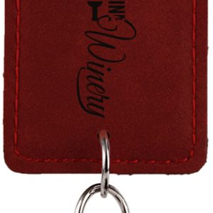 Rectangle Rose Laserable Leatherette Bottle Opener Keychain