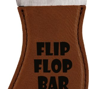 Dark Brown Laserable Leatherette Foot Shaped Bottle Opener with Magnet