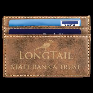 Rustic & Gold Leatherette Wallet Clip