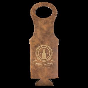 Rustic & Gold Leatherette Wine Bag