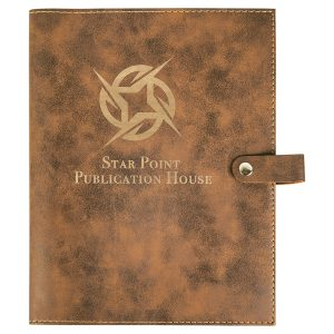 """6 1/2"""" x 8 3/4"""" Rustic/Gold Leatherette Book/Bible Cover with Snap Closure"""