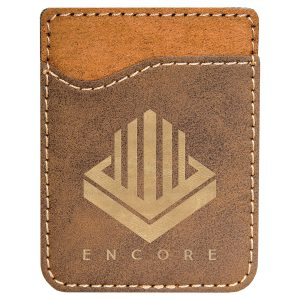 Rustic/Gold Laserable Leatherette Phone Wallet