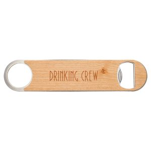 "1 1/2"" x 7"" Bottle Opener with Wood Veneer"