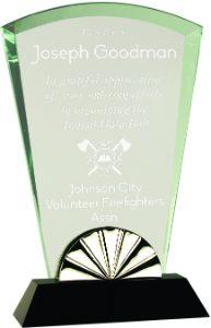 """9"""" Fan Horizon Glass with Black Base"""