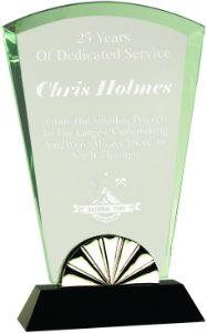 """9 3/4"""" Fan Horizon Glass with Black Base"""