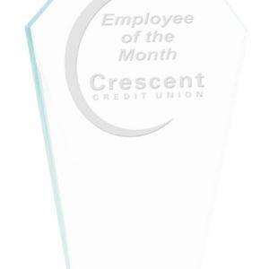 """7 1/2"""" Diamond Jade Glass Award"""