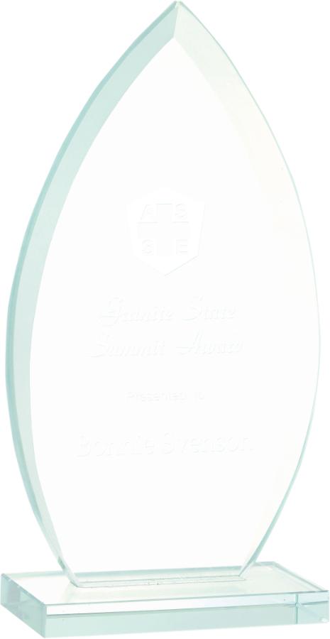 "7"" Oval Jade Glass Award"