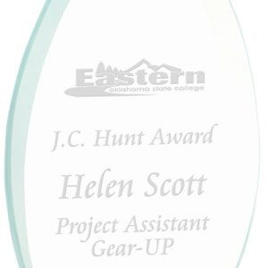 "8 3/4"" Oval Jade Glass Award"
