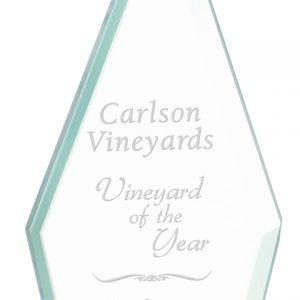 "8 1/2"" Triangle Jade Glass Award"