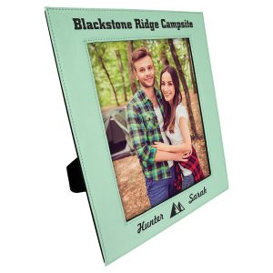 "8"" x 10"" Teal Laserable Leatherette Photo Frame"