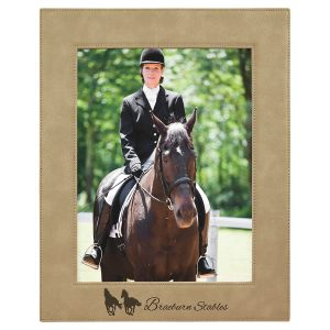 """8"""" x 10"""" Light Brown Laserable Leatherette Photo Frame"""