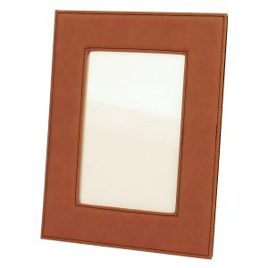 "5"" x 7"" Rawhide Laserable Leatherette Photo Frame"