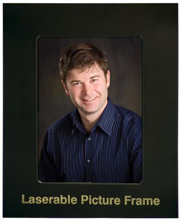 """4"""" x 6"""" Black/Gold Laser Metal Picture Frame"""