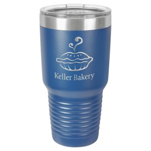 Polar Camel 30 oz. Royal Blue Ringneck Vacuum Insulated Tumbler w/Clear Lid