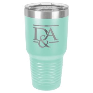 Polar Camel 30 oz. Teal Ringneck Vacuum Insulated Tumbler w/Clear Lid